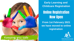Early Years Registration is changing to online