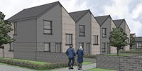 Construction resumes on new council houses