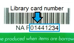 Use the last 8 characters of your North Ayrshire Council library card number