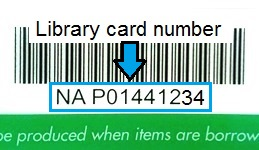 Use the whole of your North Ayrshire Council library card number